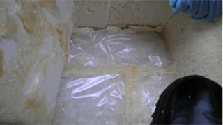 (Source: U.S. Customs and Border Protection) The meth was found lining of the ice chest.