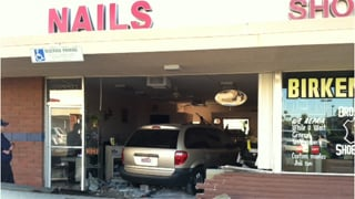 (Source: Tempe Police Department) Car slams into nail salon.
