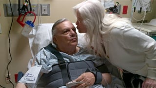 &quot;My wife Ava is showing her love after my fall,&quot; Arpaio said in a tweet. (Source: twitter@RealSheriffJoe)