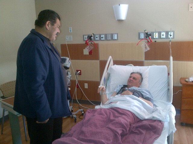 Deputy Garcia visiting Sheriff Arpaio.