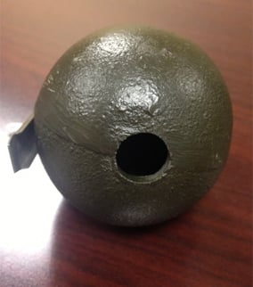Photo of the souvenir grenade. (Source: Mesa Police Department)