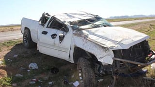 Sheriff's deputies found the pickup upright, after it had rolled several times. (Source: Pinal County Sheriff's Office)