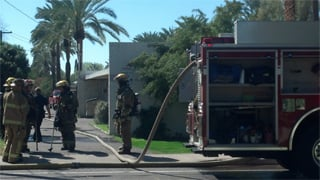 1 person was found dead in an apartment fire. (Source: Christina Batson, cbs5az.com)