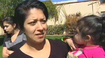 Neighbor who yelled for the victim to get out of the apartment. (Source: KPHO-TV)
