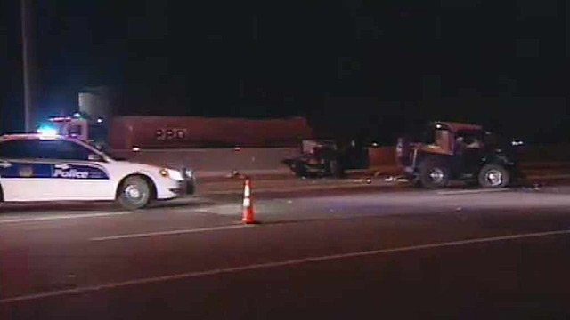 The Arizona Department of Transportation said only the outside lane near Dixileta Drive was open after the crash just before 3:30 a.m. (Source: CBS 5 News)