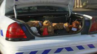 DPS encourages people to donate a bear of stuffed animal. (Source: KPHO-TV)