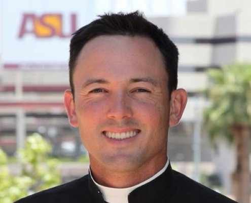 Fr. Muir is a priest for the Diocese of Phoenix, assistant dir. of Catholic Newman Center at ASU, assistant dir. of the Office of Worship.