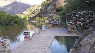 Area of the rescue along the Verde River