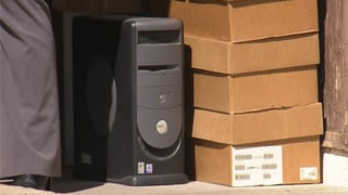 Police seized Millsaps' computer. (Source: CBS 5 News)