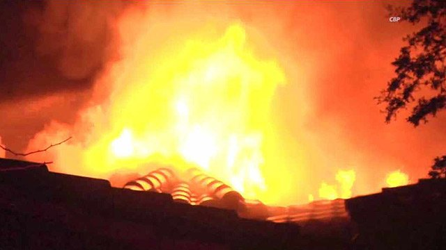 ? Flames shot as high as 50 feet during this fire that destroyed an Ahwatukee Foothills home Thursday night. (Photo: Courtesy Chad Black)