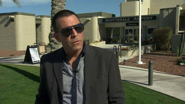 JetPurple Airwayz CEO Adam Blumenkranz says his airline will launch flights from Scottsdale over the Memorial Day weekend, but it doesn't have the licenses needed to operate, the city says. (Source: CBS 5 News)