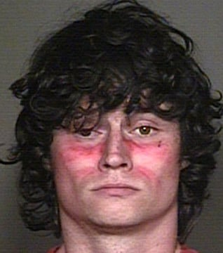 Police said they found Matthew Andersen wearing &quot;war paint&quot; on his face and multiple weapons in his Mesa townhouse after he made threats to shoot police early Monday morning. (Source: Mesa Police Department)
