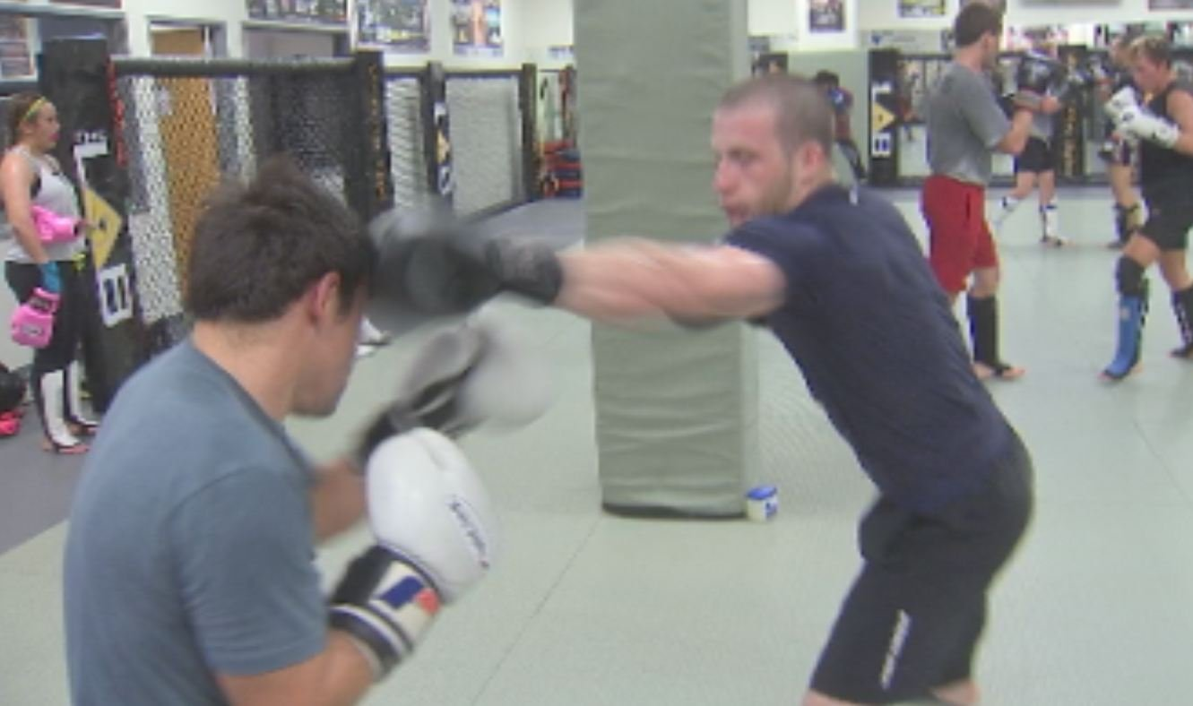 Athletes train at The Lab MMA gym in Glendale.