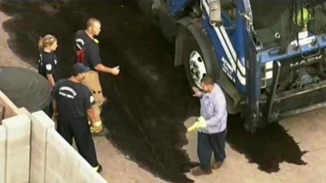 The driver was able to walk away unharmed. (Source: CBS 5 News)