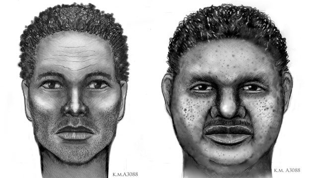 Police sketches of two men detectives might have been involved in a March 8 double homicide. (Source: Phoenix Police Department)