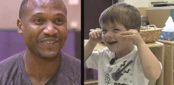 Suns coach Lindsey Hunter and preschooler Brayden Subrin