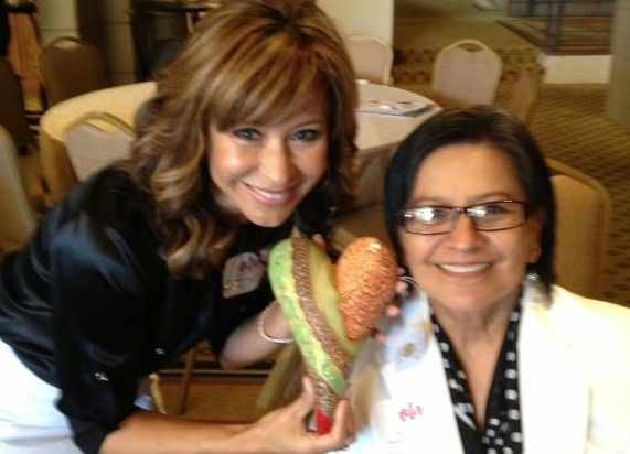 CBS 5 News' Catherine Anaya with her mom and her reward.