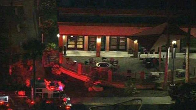 The guests of a Holiday Inn in Phoenix were evacuated after employees smelled natural gas Monday morning. (Source: CBS 5 News)