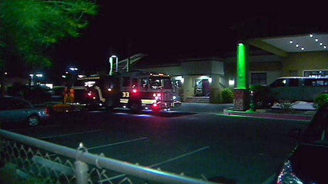 A Holiday Inn near I-17 and Cactus Road was evacuated a second day in a row when natural gas was smelled in the building. (Source: CBS 5 News)