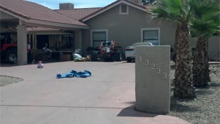 Search warrant served at 133rd Ave. and Beverly in Goodyear. (Source: Christina Batson, cbs5az.com)