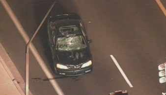 The driver of the car stopped after realizing a person had been hit. (Source: KPHO-TV)