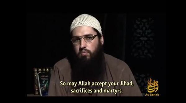 A still shot from a jihadist recruitment video posted to YouTube.