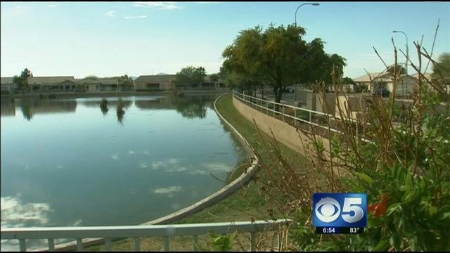 Lake where it happened near 107th Avenue and McDowell. (Source: KPHO-TV)