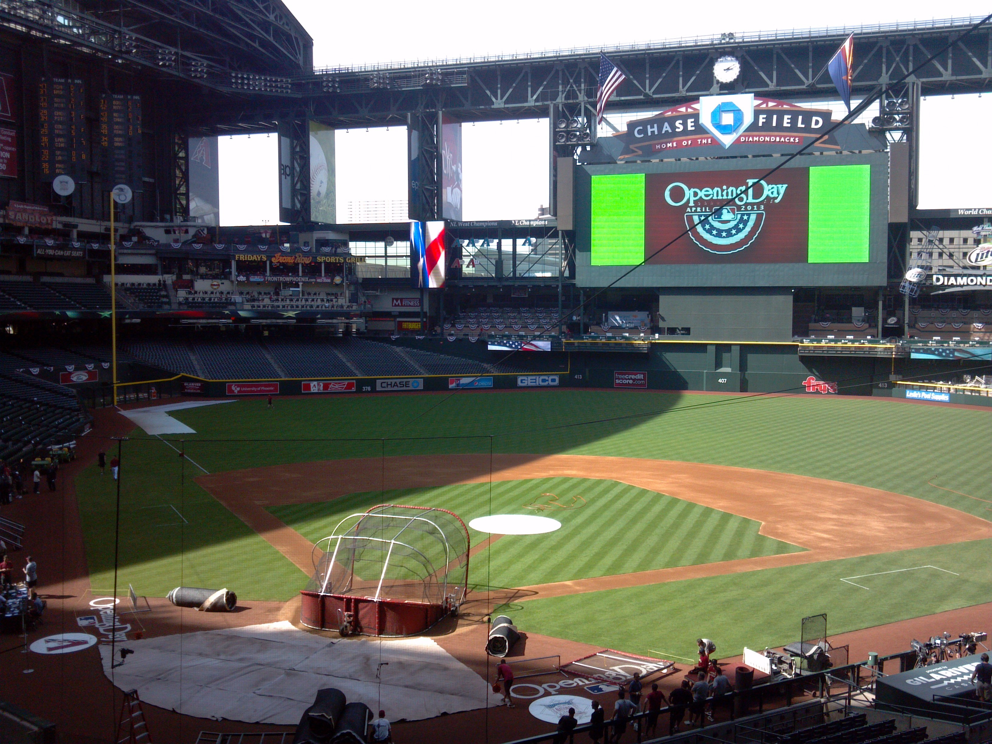 Chase Field on Opening Day (Source: Carlos Baca, CBS 5 News)