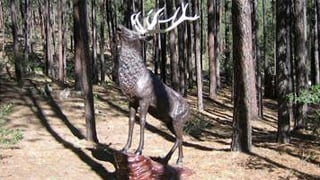 The elk statue is worth $3,000. (Source: Yavapai County Sheriff's Office)