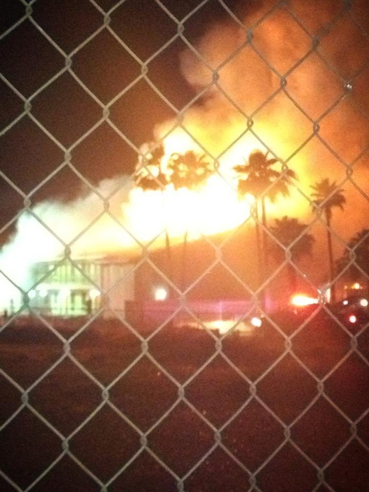 Fire Saturday night at the Travel Inn near 27th Avenue and Indian School. (Source: KPHO-TV)