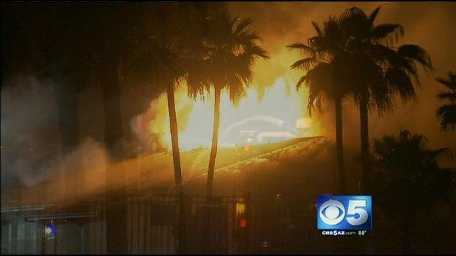 Everyone got out safely. (Source: KPHO-TV)