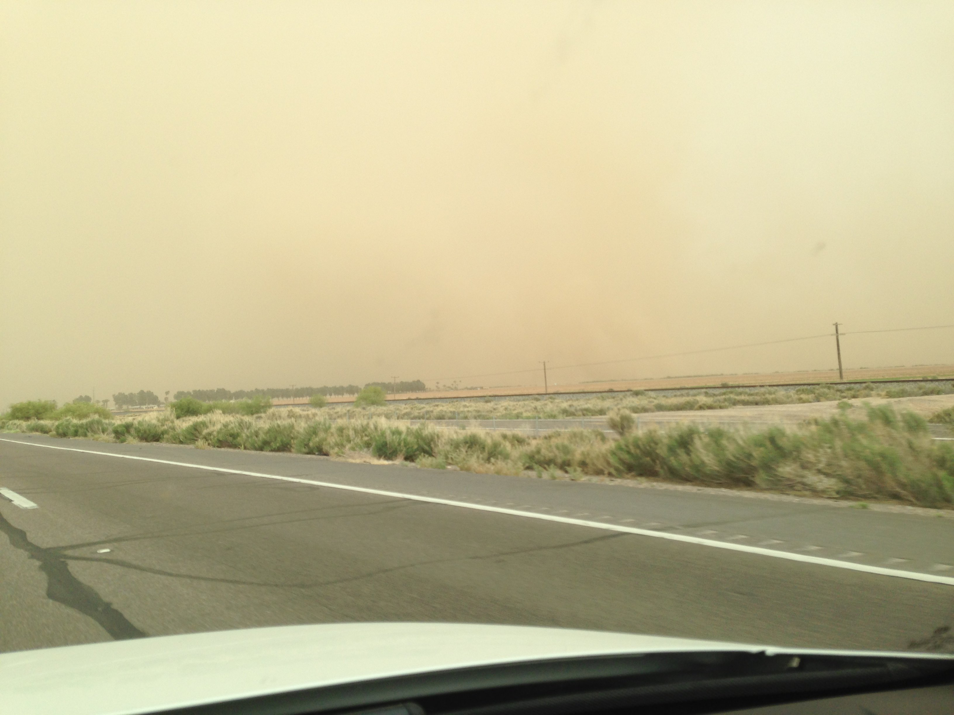 In Gila Bend heading toward Phoenix (Source: CBS 5 News, Steve Soliz)