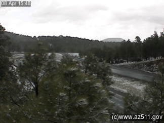 Interstate 40 at Riordan, west of Flagstaff (Source: ADOT)