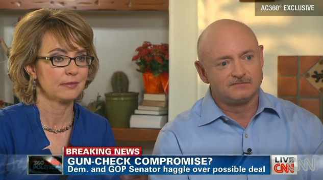 Giffords, left, has not lost her love of guns. (Source: CNN)