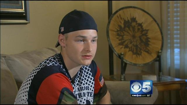 Prestin Etienne, 15, is a fighter and is not letting a six-month diagnosis get him down (Source: CBS 5 News)