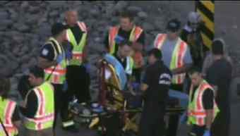 Three occupants suffered minor injuries. (Source: KPHO-TV)