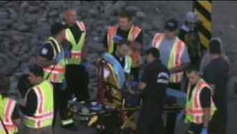 Three occupants suffered minor injuries. (Source: KPHO-TV)