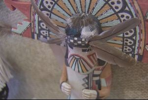 Hopi Katsina doll. Tribe says these are meant for public viewing, but not the objects up for auction.