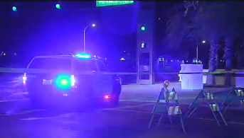 Fatal car-pedestrian accident in Tempe Monday night. (Source: KPHO-TV)