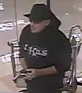 The suspect has robbed five pharmacies between Dec. 27, 2012 to April 4.  (Source: Silent Witness)