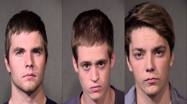 Most recent shots for Travis Lee Hanson, Zachary Bergin and Clayton Charles Becker (Source: Maricopa County Sheriff's Office)