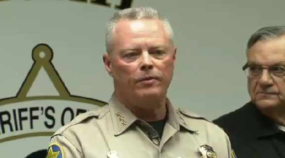 MCSO held a news conference late Friday morning on the explosive package. (Source: CBS 5 News)