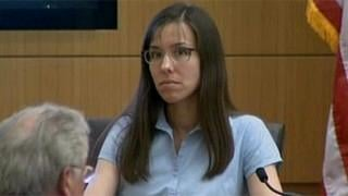 Jodi Arias during her time on the witness stand. (Source: CBS 5 News)