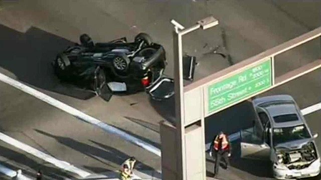 Two people suffered minor injuries in this crash in Tempe on Wednesday morning. (Source: CBS 5 News)