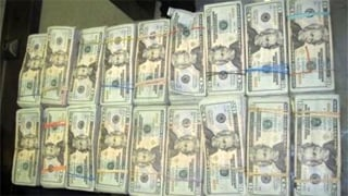 Here's the $90,000 in unreported U.S. currency seized by federal officers. (Source: U.S. Customs and Border Protection)