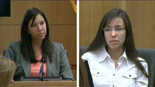 Clinical psychologist Janeen DeMarte and Jodi Arias. (Source: KPHO-TV)