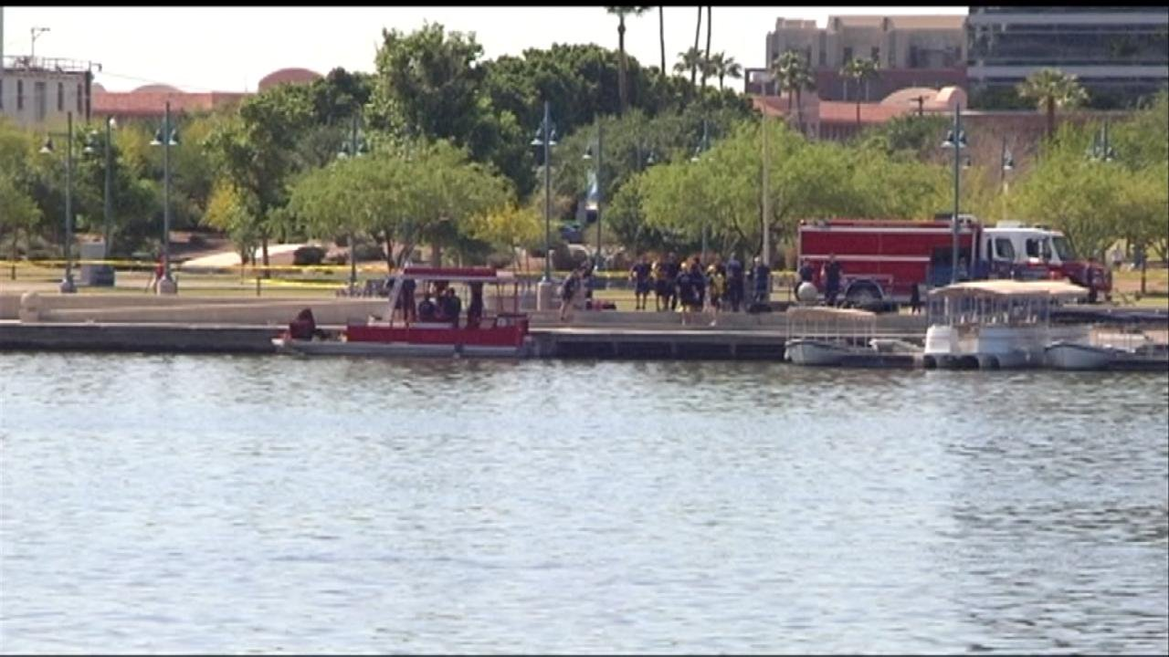 Tempe Town Lake April 20 (Source: KPHO-TV)