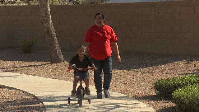 Jennifer Ponce's son was mistakenly left on a Laveen Elementary School District bus where he was discovered at the district's bus depot. (Source: CBS 5 News)