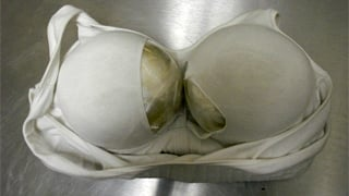 Four pounds of heroin concealed in a bra. (Source: U.S. Customs and Border Protection)