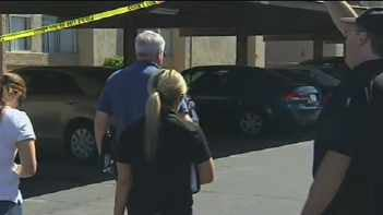 Police remained on the scene throughout the day. (Source: KPHO-TV)